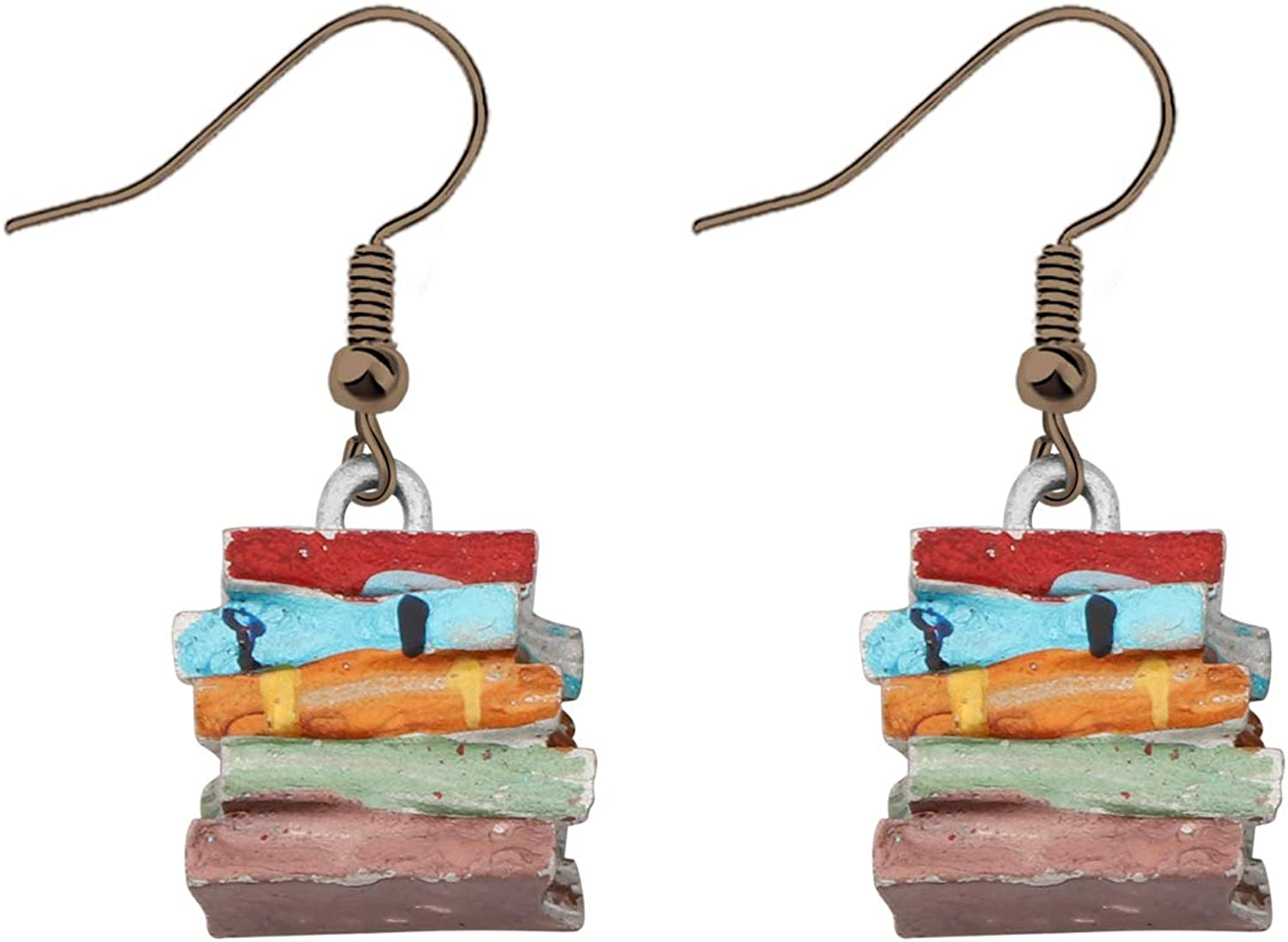 FAADBUK Book Max 87% OFF Lover Drop Multicolor Earrings Popular shop is the lowest price challenge Retro