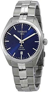 Tissot PR 100 Quartz Blue Dial Titanium Men's Watch T101.410.44.041.00