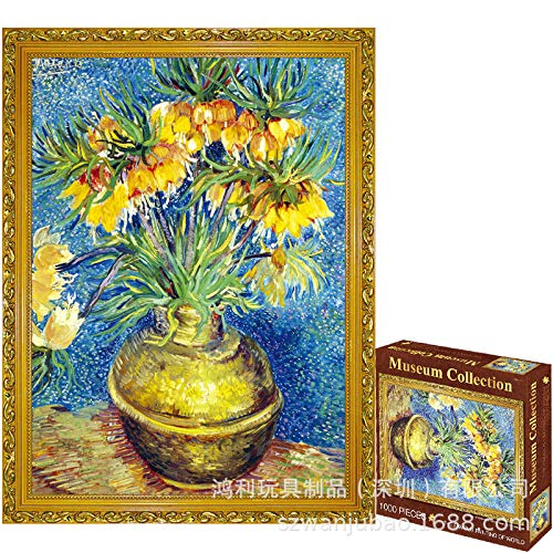 Oil Painting Class Piece Adult Puzzle Toy Creative Decompression Artifact Birthday Gift  Pieces Puzzle Fritillary Flower (Indian Division) 63152 7 1000 Tablets Frameless