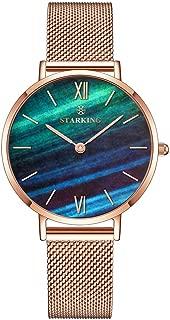 STARKING Watch Women's Minimalist Ultra Thin Rose Gold Watch TL0919 Analog Quartz Stainless Steel Mesh Watch …