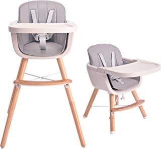 Tiny Dreny Convertible Baby Chair with Cushion   High Chair for Babies and Toddlers   3-in-1 Baby High Chair Grows up with...