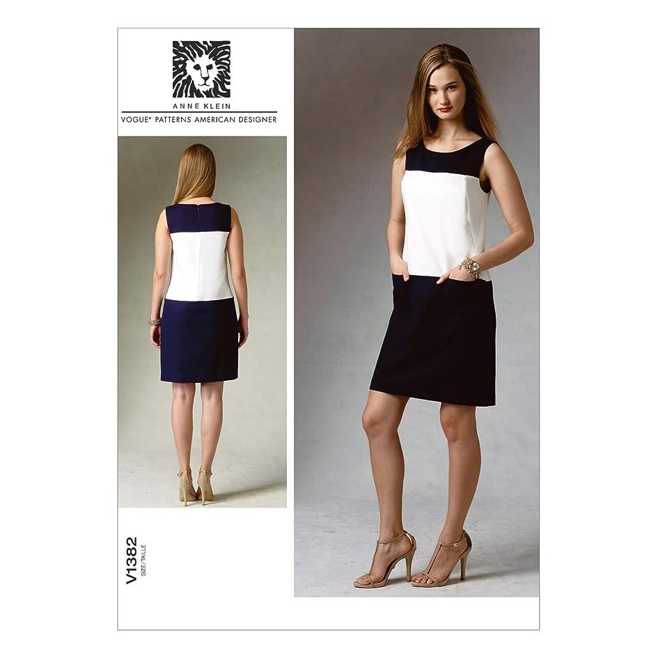 Vogue Patterns V1382B50 Misses' Dress Sewing Template, Size B5 (8-10-12-14-16)