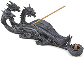Smart Living Company Triple Head Mythical Dragon Figure Incense Stick Burner