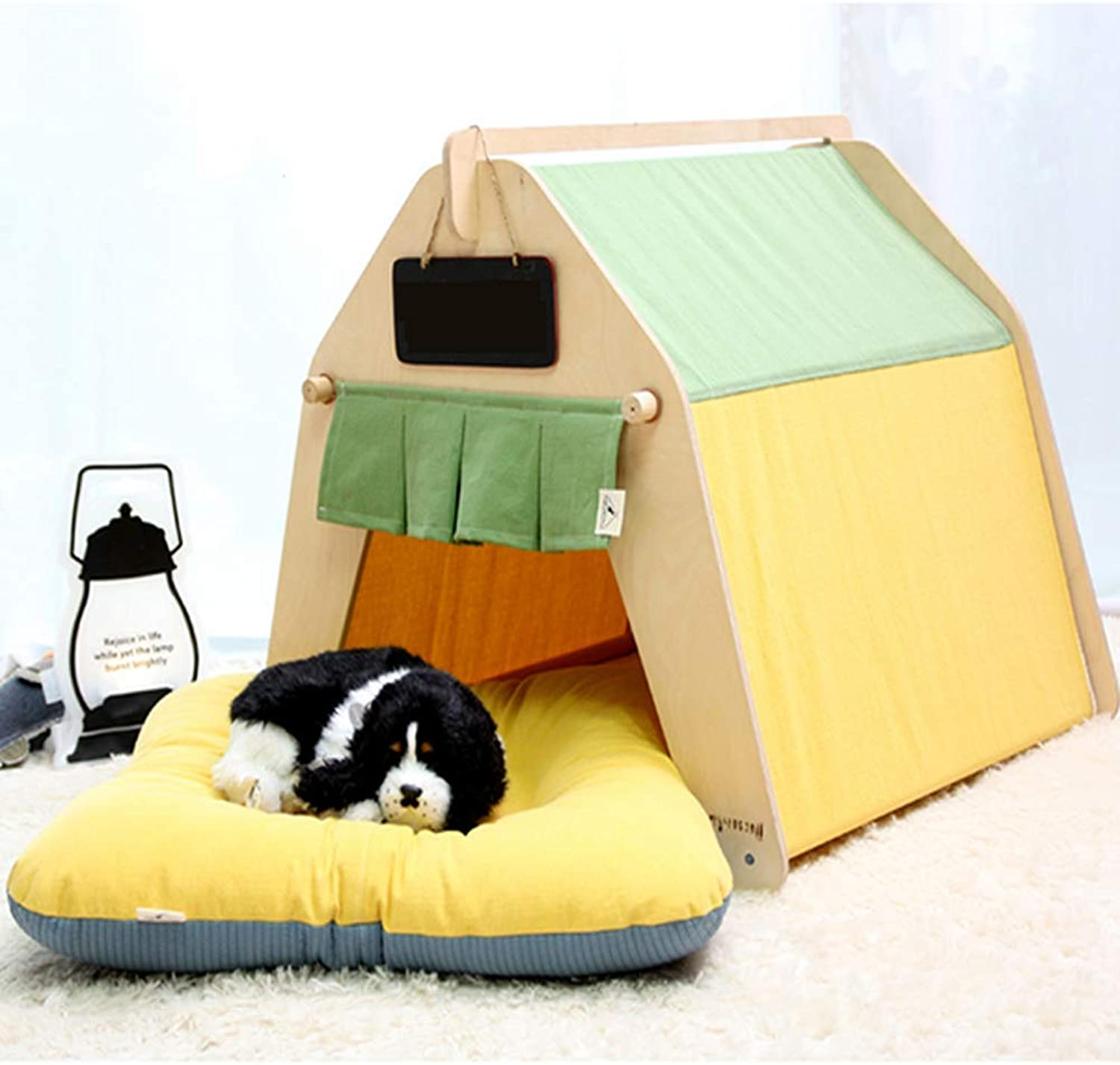 WRQ977 Canvas Tent Tent Tent Pet Room Washable Cat Litter