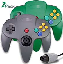 $24 » 2 Packs N64 Controller, King Smart Wired N64 Controllers with Upgraded Joystick for Original Nintendo 64 Console (Gray and...