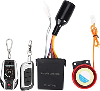 $52 » Motorcycle Alarm System Reduce Theft 105-125dB Motorcycle 2 Way Remote Alarm Horn Waterproof Security System with Engine S...