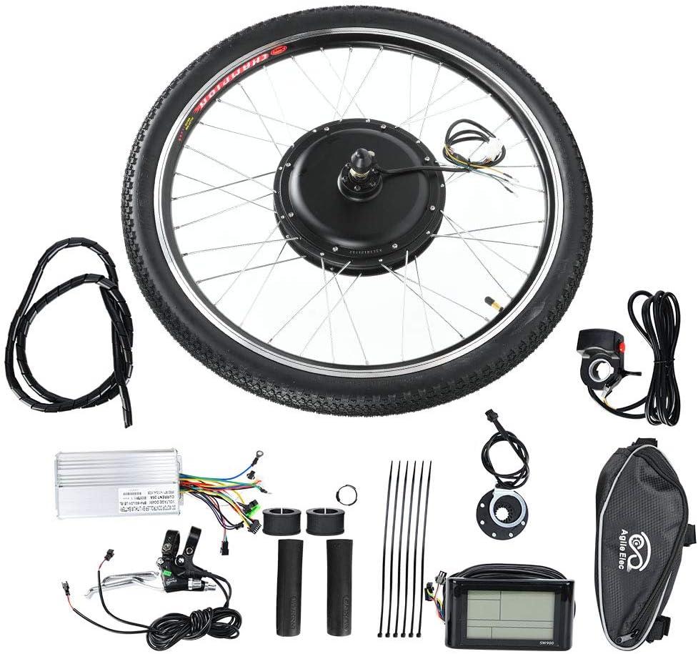 Bicicleta Eléctrica Kit de Conversión Kit De Conversión De Bicicleta Eléctrica, Bicicleta Eléctrica 36V 500W HUB Motor Kit De Conversión Rueda 26in con Medidor (Unidad Trasera)