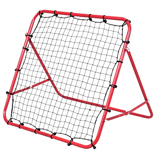 GYMAX Football Training Net Pro Rebounder Net Soccer...