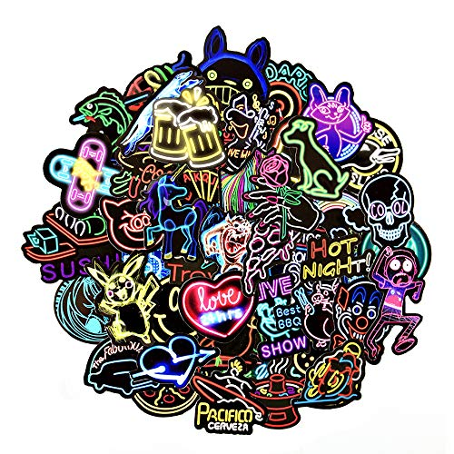 greestick Stickerbomb Neon Aufkleber 50 Stück Sticker