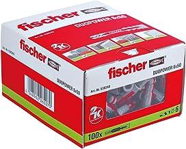 fischer DUOPOWER 6 x 50, universele pluggen, krachtige 2-componenten pluggen, kunststof pluggen voor bevestiging in beton,...