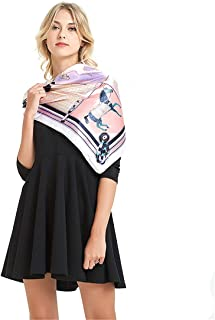 Youdiao Ladies Satin Square Silk Like Hair Scarves and Wraps Headscarf