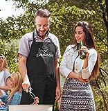 SpecialMe® Küchen-Schürze Name anpassbar Schriftzug Chefkoch individualisierbar Kochschürze Männer personalisierte Geschenke schwarz Unisize - 3