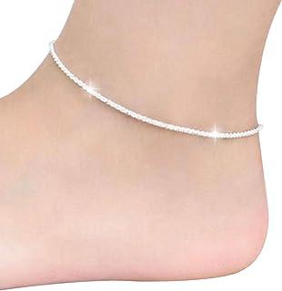 Fablcrew, cavigliera in argento alla moda da spiaggia, per feste di matrimonio, gioiello decorativo 1 pcs