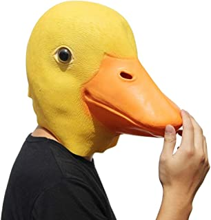 Yanchad Máscara de Pato de Látex de Goma Divertido Cabeza de Pato Máscara de Halloween Animal