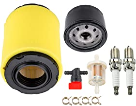 Dxent 492932 696854 Oil Filter + 796031 797704 Air & Pre Filter + 494768 698183 Shut Off Valve + 601035 Fuel Filter for Briggs & Stratton 591334 594201 5428 5421 31A507 31A607 31A677 Engine
