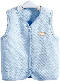 warmstraw Baby Infant Cotton Hooded Vest Winter Warm Puffer Sleeveless Jacket Waistcoats