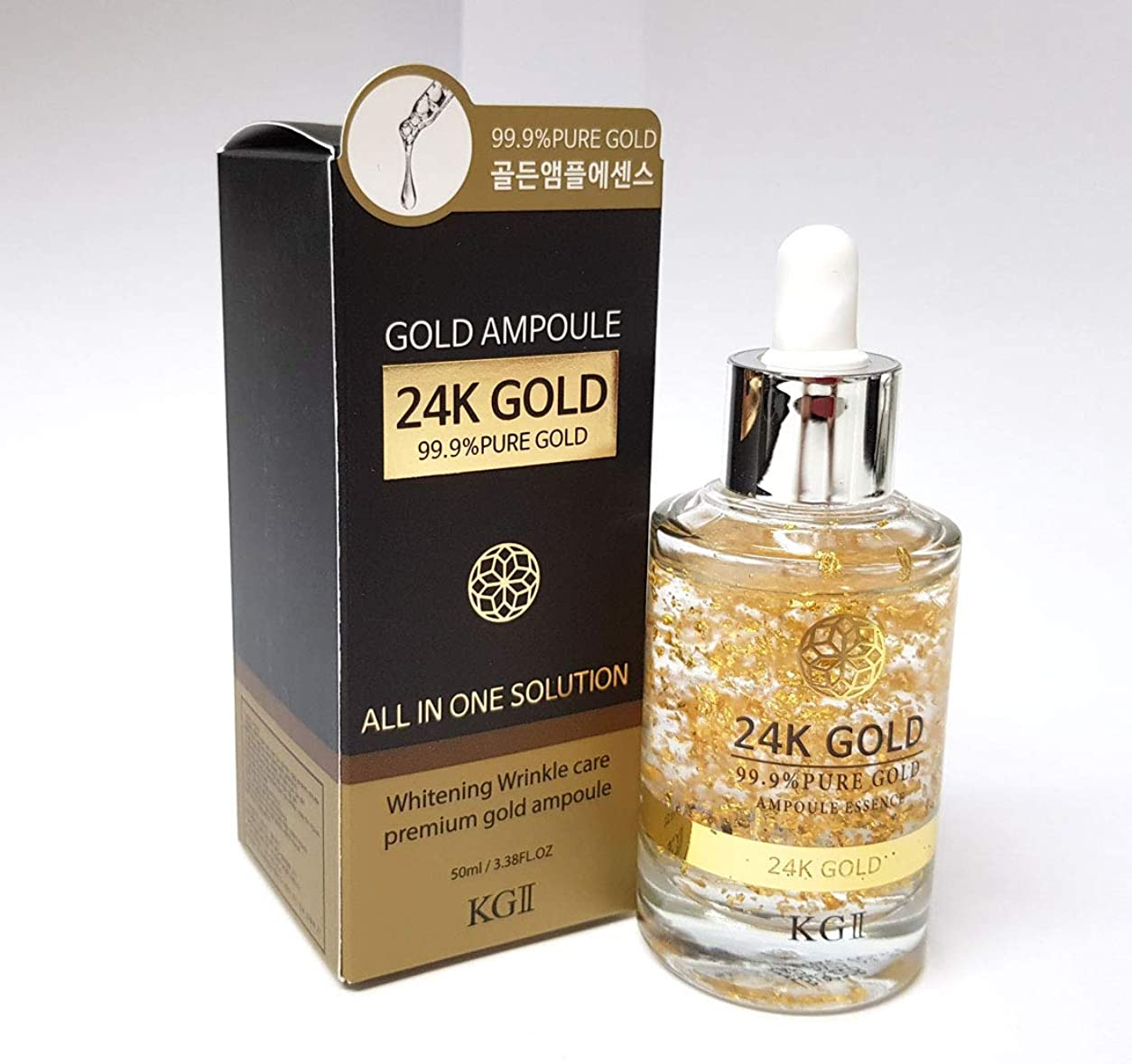 活力人差し指欺く[KG2] 24Kゴールドアンプルエッセンス50ml / 24K Gold Ampoule Essence 50ml / 99.9ピュアゴールド / 99.9Pure Gold/シワ&ホワイトニング/wrinkles & whitening/韓国化粧品/Korean Cosmetics [並行輸入品]