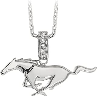 sterling silver mustang necklace
