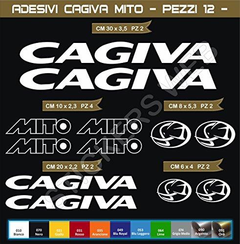 Aufkleber stickers CAGIVA MITO -Motorrad- Cod. 0553 (Bianco cod. 010)