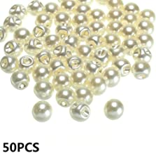 MOPOLIS Garment Decorative Scrapbooking Pearl Buttons Clothing Dress Accessories Sewing | Size - 50PCS