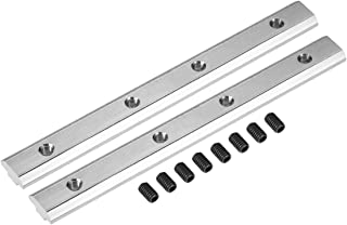 sourcing map Conector de Línea Recta - Soporte de Unión con Tornillos para Perfil de Extrusión de Aluminio Serie 4040-2 piezas