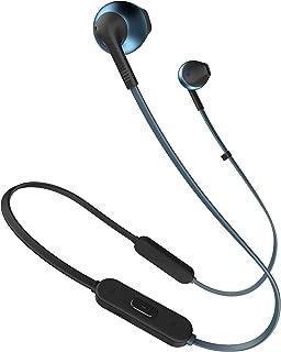 JBL T205BT Pure Bass Wireless Metal Earbud Headphones with Mic (Blue)