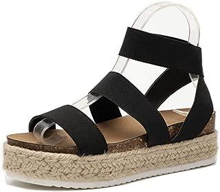 Best elastic wedge sandals Reviews
