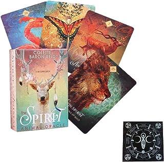 The Spirit Animal Oracle 68ST Tarotkort Spådom Ödet Vänner Familj Party Spelar Holiday Happy Board Game Presentkort,with t...