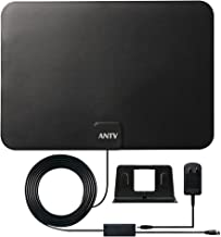 Antop HDTV Antenna Indoor Digital TV Antenna,Ultra HD Antenna with Amplifier Signal Booster,Support 4K 1080P VHF UHF TV Channels, with 10ft Coaxial Cable