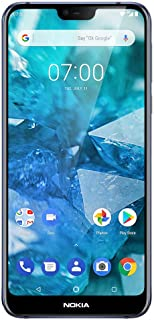 "Nokia 7.1 - Android 9.0 Pie - 64 GB - 12+5 MP Dual Camera - Unlocked Smartphone (at&T/T-Mobile/MetroPCS/Cricket/H2O) - 5.84"" FHD+ HDR Screen - Blue - U.S. Warranty"