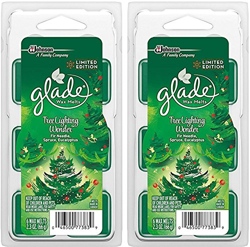 Glade Wax Melts Air Freshener - Limited Edition - Winter Collection 2017 - Tree Lighting Wonder - 6 Count Wax Melts Per Package - Pack of 2 Packages