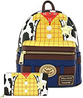 Loungefly Disney Toy Story Woody Cosplay Mini Backpack and Wallet Set