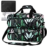 Sewing Machine Carrying Case Tote Universal Tote Bag Large Capacity Waterproof Canvas Storage Bags with Pockets and Handles for Most Standard Singer,Brother,Janome(Bag Only), Green