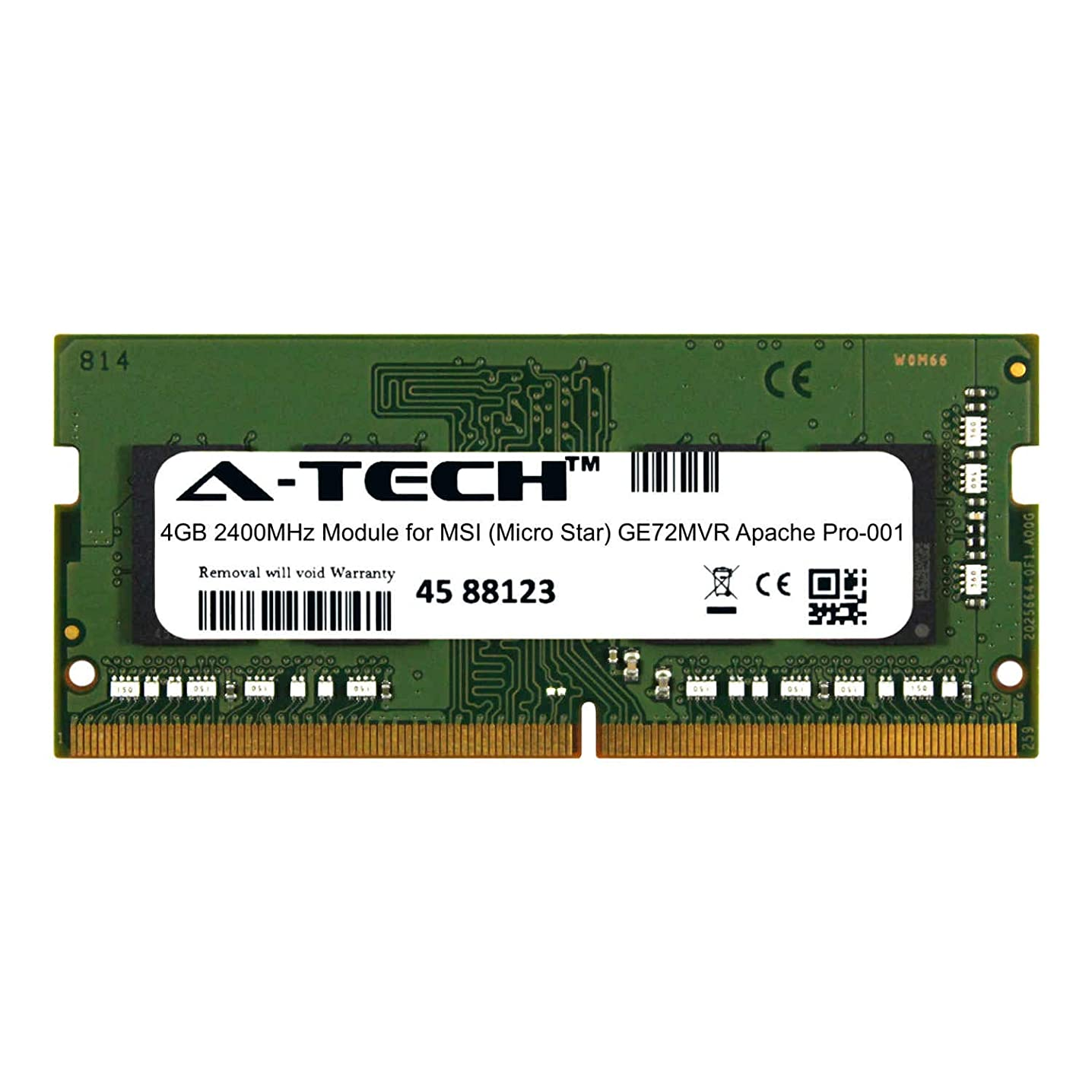 A-Tech 4GB Module for MSI (Micro Star) GE72MVR Apache Pro-001 Laptop & Notebook Compatible DDR4 2400Mhz Memory Ram (ATMS368234A25824X1)