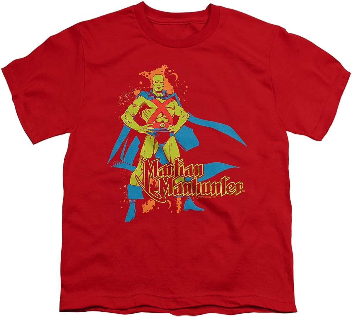 DC Martian Manhunter Unisex Youth T Shirt, Red, X-Large