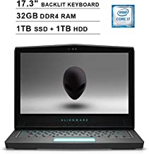 2019 Newest Dell Alienware 17 R5 17.3 Inch FHD Gaming Laptop (Intel Core i7-8750H up to 4.1GHz, 32GB DDR4, 1TB SSD(Boot) + 1TB HDD, NVIDIA GTX 1060 6GB, Backlit Keyboard, WiFi, Windows 10)