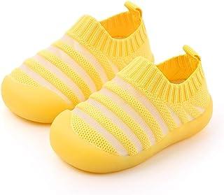 Yoaa, Calcetines de verano y otoño para niños, zapatos, calcetines antideslizantes, calcetines de tobillo, zapatos para el primer paso del bebé, calcetines a rayas