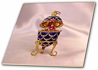 3dRose LLC ct_3148_2 Picturing Pinecone Faberge Egg Ceramic Tile, 6-Inch