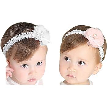 Baby Haarband Blumen Stirnband Kopfband Mädchen Haarschmuck Fotoshooting Kostüm