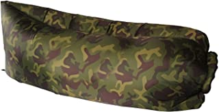 Dlisten Outdoor Inflatable Air Sleep Sofa Couch Portable Furniture Sleeping Bag Lazy Bed Hangout Lounger for Summer Camping Beach Seaside (Camo)
