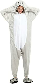 ABYED Kostüm Jumpsuit Onesie Tier Fasching Karneval Halloween kostüm Erwachsene Unisex Cosplay Schlafanzug- Größe M - für Höhe 156-163CM, Seelöwe
