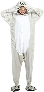 ABYED ABYED Kostüm Jumpsuit Onesie Tier Fasching Karneval Halloween kostüm Erwachsene Unisex Cosplay Schlafanzug- Größe M - für Höhe 156-163CM, Seelöwe