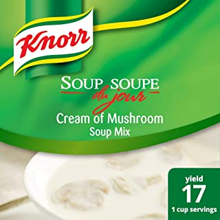 Knorr Professional Soup du Jour Cream of Mushroom Soup Mix Gluten Free, No added MSG, Just Add Water, 19.6 oz, Pack of 4