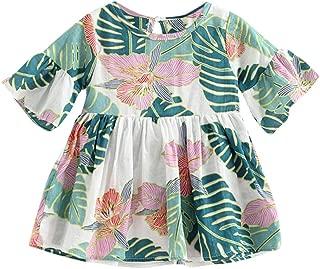 Size:80, Vert Vovotrade B/éb/é Nourrisson Filles Fleurs Print Romper Jumpsuit Bandeau Tenues V/êtements
