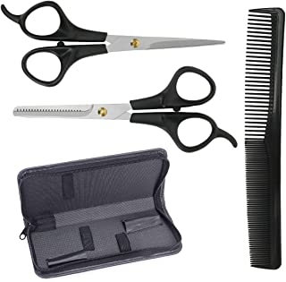 Nicewell Professional Home Hair Cutting Kit, Haircutting Scissors Salon/Home Thinning Shears Kit with Comb for Men and Wom...
