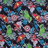 Avengers Superhelden-Stoff, gebürstete Baumwolle, 111,8 cm