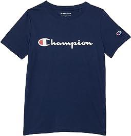 Classic Script Short Sleeve Graphic T-Shirt (Big Kids)