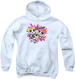 Trevco Powerpuff Girls Team Awesome Unisex Youth Pull-Over Hoodie for Boys and Girls