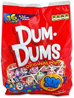 DUM DUMS Lollipops, Variety Flavor Mix, 300 Count Bag
