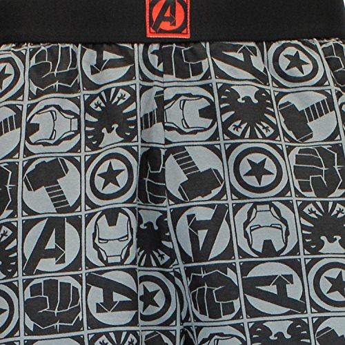 Marvel Pantalones de Pijama para Hombre Avengers Gris Large